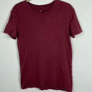 American Eagle Seriously Soft T-Shirt Burgundy XS